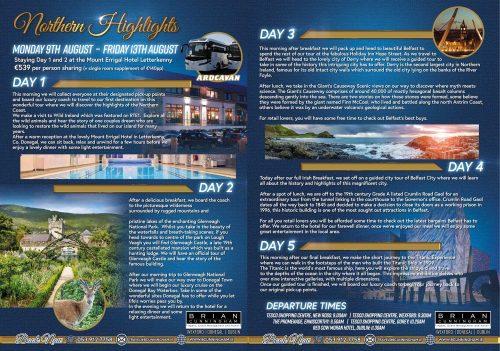 Brian Cunningham Travel- Northern Highlights 9-13 August 2021